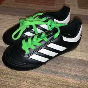 Boys Adidas soccer cleats size 11 toddler.